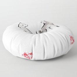Two Shiba Inu Couple Floor Pillow