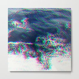 Oceanic Glitches - Pale Waves Metal Print
