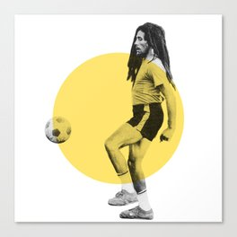Marley playing soccer Canvas Print