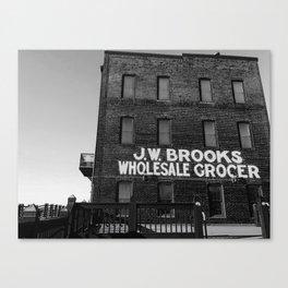 Wholesale on the Riverwalk Canvas Print