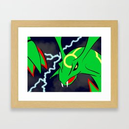 Rayquaza In The Skies Framed Art Print