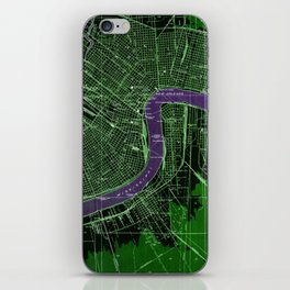 07-New Orleans Louisiana 1932, mid century america maps iPhone Skin