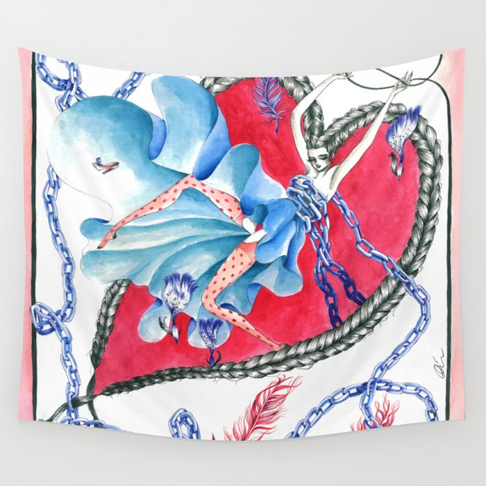 Falling in Love Wall Tapestry