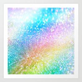 rainbow glitter Art Print