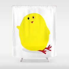 Cute Fluffy Yellow Baby Chick Shower Curtain