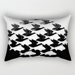 Escher - Sky and Water Rectangular Pillow
