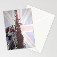 London Skyline and Union Jack Flag  Stationery Cards