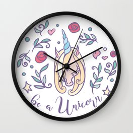 Choose to be a Unicorn Wall Clock