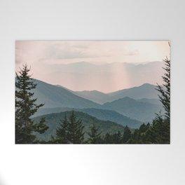 Smoky Mountain Pastel Sunset Welcome Mat