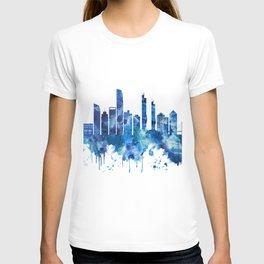 Izmir Turkey Skyline Blue T-shirt
