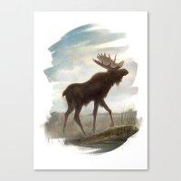 moose Canvas Prints featuring Moose by Alex Perkins
