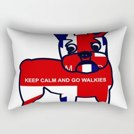 Keep Calm and Go Walkies French Bulldog Rectangular Pillow