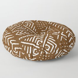 Line Mud Cloth // Brown Floor Pillow