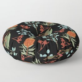 Australian Botanicals - Black Floor Pillow