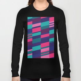 Neon Night Strips Long Sleeve T-shirt