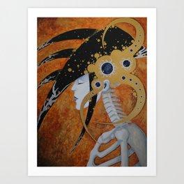 She Sleep's the Sleep of the Dead Art Print