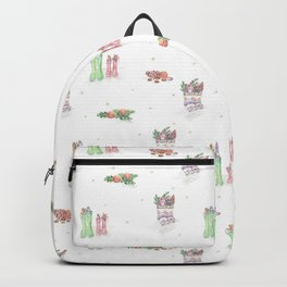 Christmas Boots Pattern Backpack
