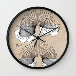 patent art James Toy and process of use 1946 Wall Clock
