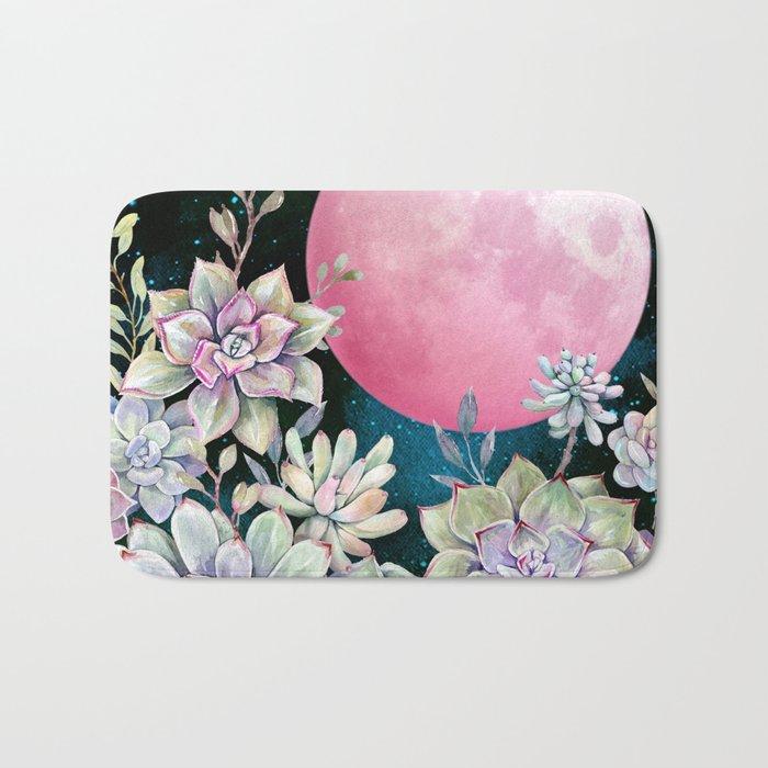 succulent full moon 3 Bath Mat