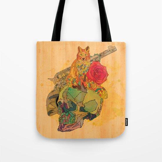 Fox & Rose Tote Bag