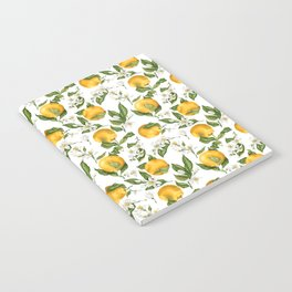 Citrus OrangeTree Branches with Flowers and Fruits Notebook