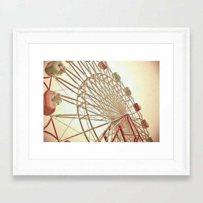 Ferris Wheel Framed Art Print by heatherlindberg | Society6