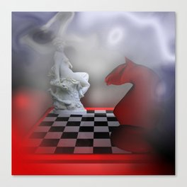 the other Chess-Lady Canvas Print