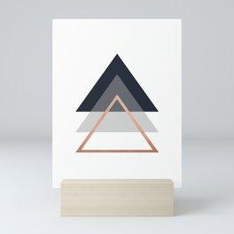 Minimalist Triangles Print Mini Art Print
