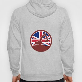 British Mechanical Digger Union Jack Flag Icon Hoody
