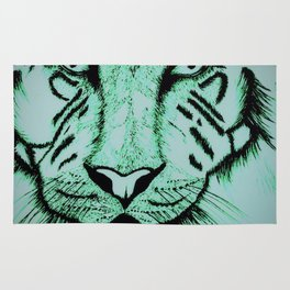 Neon Tiger Green Rug