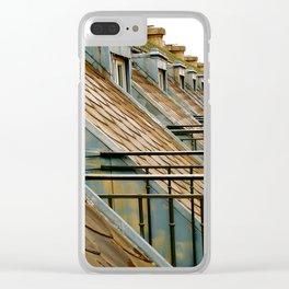 Paris Rooftops Clear iPhone Case