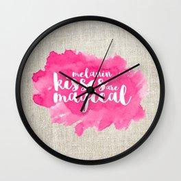 melanin kisses are magical Wall Clock