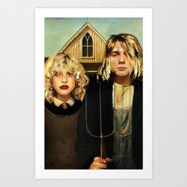 American Grunge Art Print