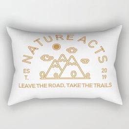 Nature Acts Rectangular Pillow