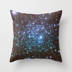 Winter Blues Galaxy Stars Throw Pillow