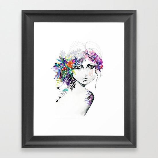 Exotic Girl Framed Art Print