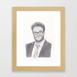 Seth Rogen Pencil drawing Framed Art Print