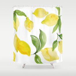 lemon love Shower Curtain