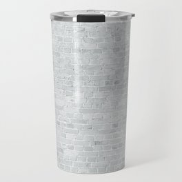 White Washed Brick Wall Stone Cladding Travel Mug