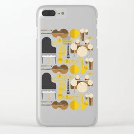 Jazz instruments Clear iPhone Case