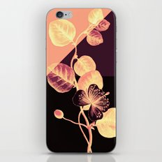 flower on pink,purple and black iPhone & iPod Skin
