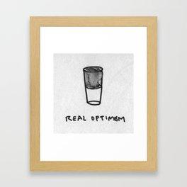 Real optimism Framed Art Print