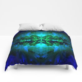 Blue columns in Abstract Comforters
