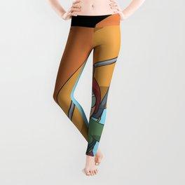 Hang Glider self portrait Leggings