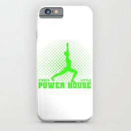 Gymnastics Gift Fierce Litte Power House Gymnast iPhone Case