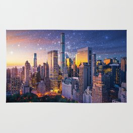 New York City - Fantasy Sunset Rug