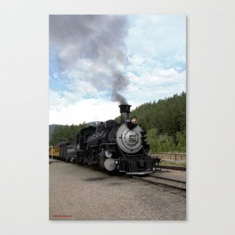 Engine No. 482 at the Rockwood Depot Canvas Print