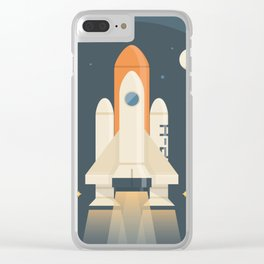 Spaceship Launch Clear iPhone Case