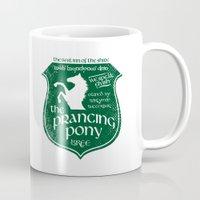 gondor Mugs featuring The Prancing Pony Sigil by Nxolab
