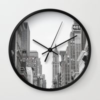 broadway Wall Clocks featuring Broadway - NY by Basma Gallery